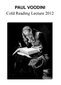 Cold Reading Lecture - Voodini